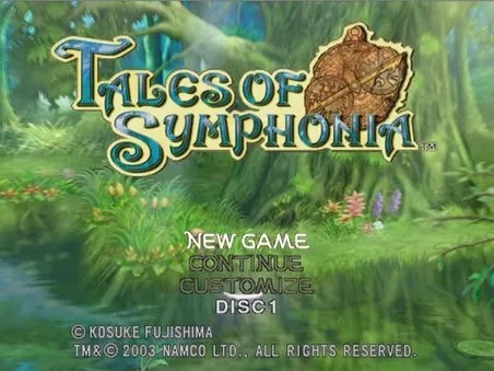Tales of Symphonia Title Screen - I Am Games: The Reviewer's Life