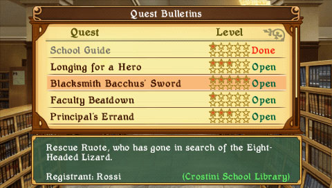 Class of Heroes 2 | Questboard
