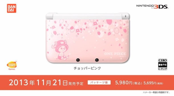 One Piece-Themed 3DS XL—Chopper Pink