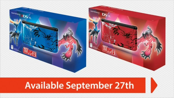 Pokémon Direct: Red and blue Pokémon X and Y-edition 3DSes