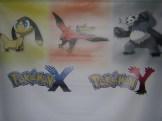 Helioptile, Talonflame, and Pangoro (Pokémon X & Y) banner