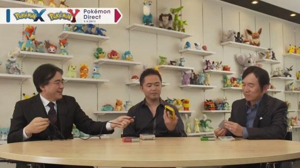 Pokémon Direct: Satoru Iwata, Tsunekazu Ishihara, and Junichi Masuda