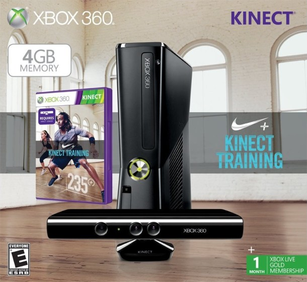 Xbox 360 4GB Kinect Nike+ bundle