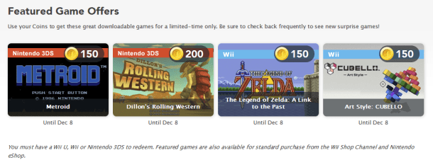 Club Nintendo Rewards | November 2013 Game Offers (North America)