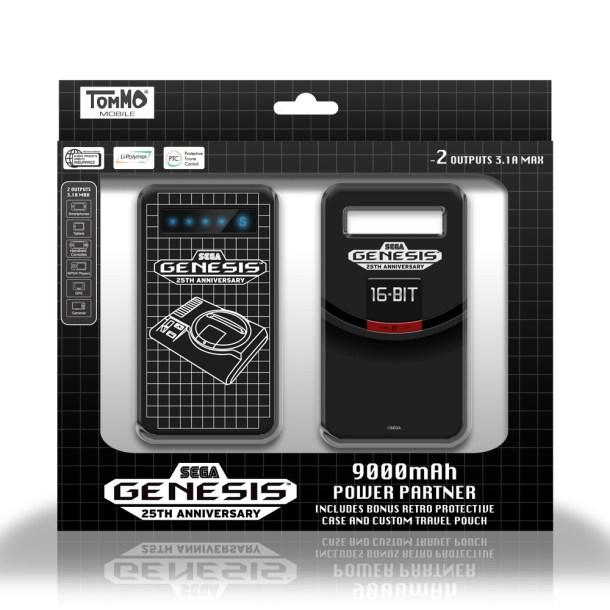 Tommo SEGA Genesis 9,000 mAh Power Partner | Package Shot Front