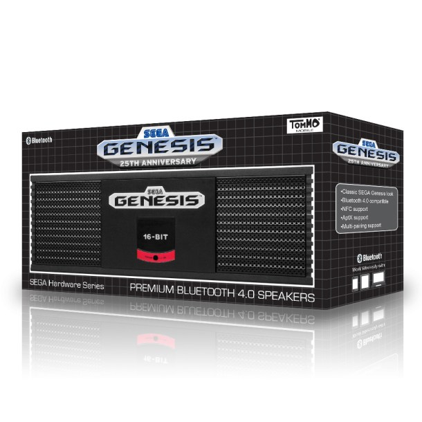 Tommo SEGA Genesis Premium Bluetooth 4.0 Speaker | Package Shot Angled