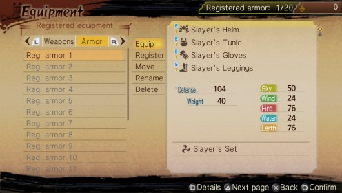 Toukiden | ArmsChest_Equipment_Registration