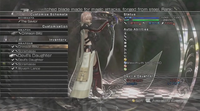 Lightning Returns | Customization