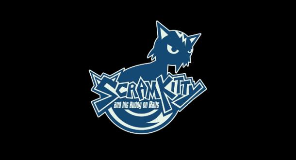 Scram Kitty and his Buddy on Rails - Logo | oprainfall