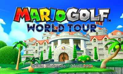 Mario Golf: World Tour - Title Screen | oprainfall