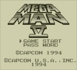 Mega Man V - Title Screen