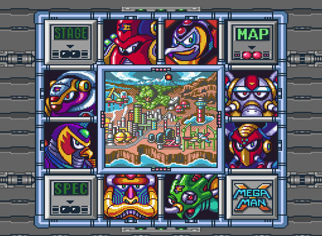 Mega Man X | Stage Select