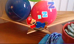 N3DS Photos with Mario - Sleeping