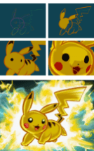 Pokemon Art Academy - Drawing Pikachu in Action