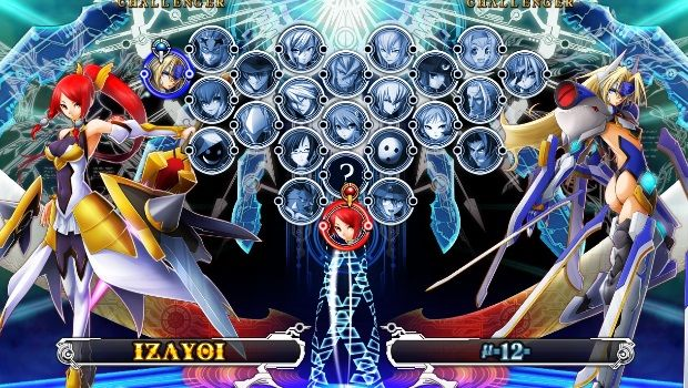 BlazBlue: Chrono Phantasma | Character Select Screen