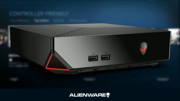 Front and Light-Up Areas | Alienware Alpha - Steam Machine [E3 2014]