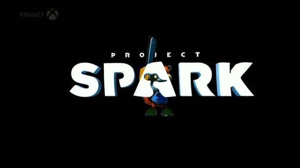 Conker About to Chainsaw the Project Spark Logo [E3 2014]