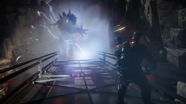 Evolve - Hunter faces off against the Monster.