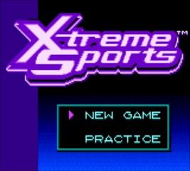 Xtreme Sports - Title Screen