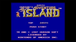 Adventure Island - Title Screen