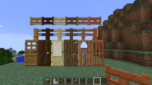 Minecraft 1.8 - Doors, Fence and Gates