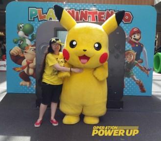 Pikachu and fan!