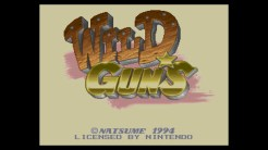 Wild Guns - Title Screen
