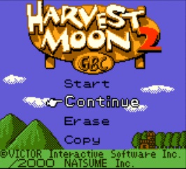 Harvest Moon 2 GBC - Title Screen