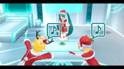 Hatsune Miku: Project Diva F 2nd | Miku, Rin, and Len Santa Costumes