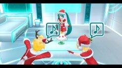 Hatsune Miku: Project Diva F 2nd | Miku, Rin, and Len Santa Costumes