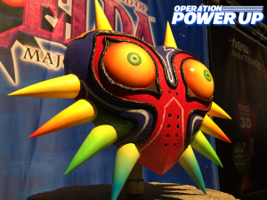 A closer view of Majora's Mask.
