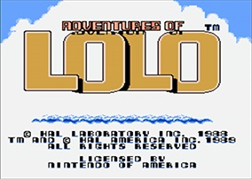 Adventures of Lolo - Title