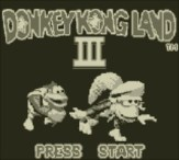 Donkey Kong Land III - Title Screen
