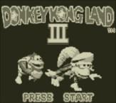 Donkey Kong Land III - Title Screen