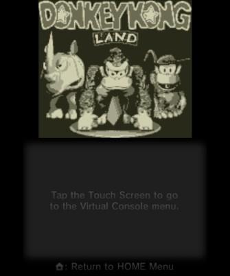 Donkey Kong Land - Title Screen