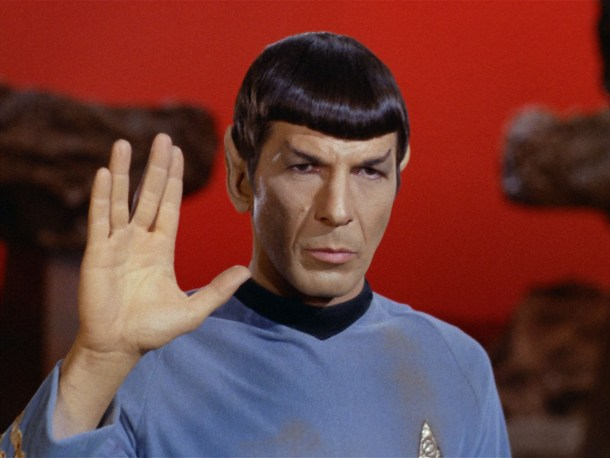 Leonard Nimoy - Vulcan Salute from Star Trek