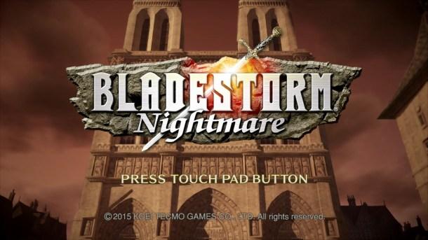 Bladestorm Nightmare | Start Screen