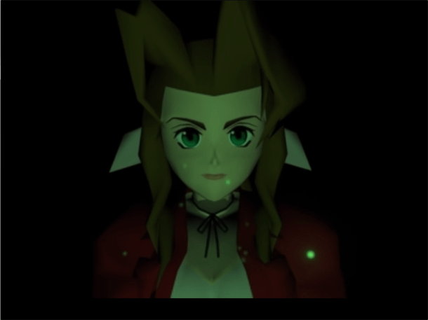 First shot of Aerith, Final Fantasy VII