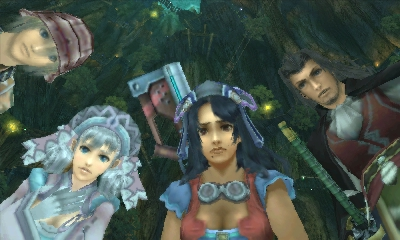 Xenoblade Chronicles 3D | Cast Of Characters Looking Down