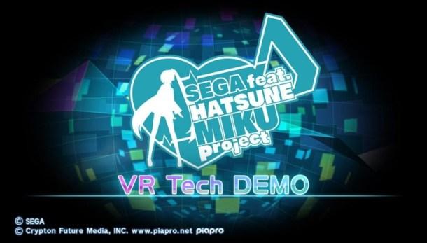 Sega Feat. Hatsune Miku Project VR Tech Demo