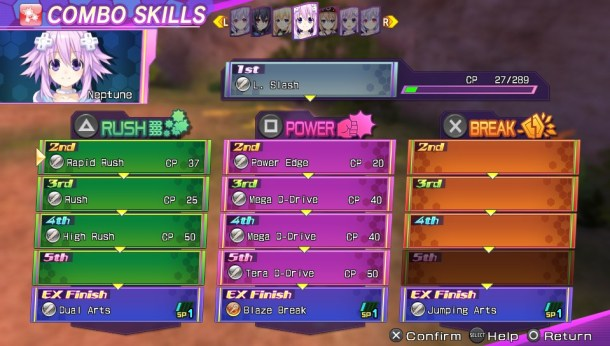 Neptunia Re;Birth 3 | Combo Skills