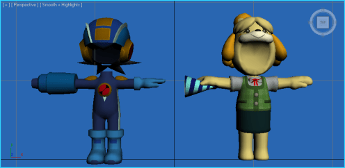 Super Smash Bros. - MegaMan.exe and Isabelle Outfits