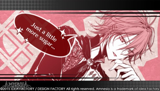Amnesia Memories Shin | Character Screen