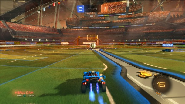 Rocket League in-game
