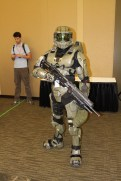 This Master Chief armor has speakers on the back for when he talks.