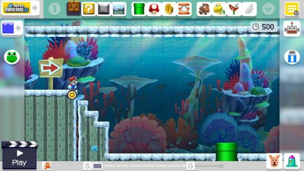 Super Mario Maker   Course Maker Layout