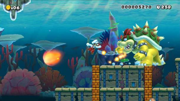 Mario vs. Bowser beneath the sea!