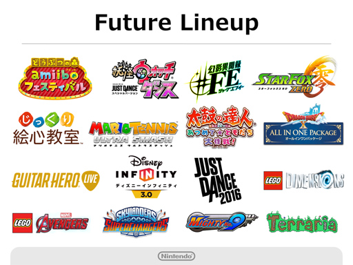 Nintendo Q2 2016 Briefing - Wii U Line-up