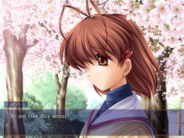 Nagisa early conversation Clannad