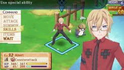 Summon Night 5 | Abert Battle Menu